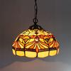 Tiffany Small Goldfish Glass Pendant Lamp European Idyllic Style Chandelier Bar Coffee Shop Light Dia 30cm H 95cm