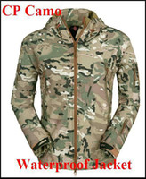 Camping & Hiking Unisex Nylon HOT Men Outdoor Tactical Hunting Camping Waterproof Coats Jacket Hoodie CP Camo Free shipping