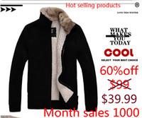 Wholesale 2014 winter rabbit fur collar casual wool cashmere thick padded collar coat jacket men