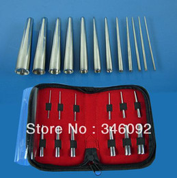 Wholesale 12 Stainless Steel Body Ear Navel Nose Piercing Tool Cone Jewelry Kits