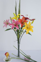 Wholesale PU Latex LIly About CM Length Home Wedding Decor Atifical Flowers Real Touch Color Option YR