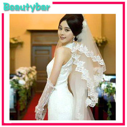 Wholesale New designs Exquisite Vintage Lace Edge Applique Bridal Veil