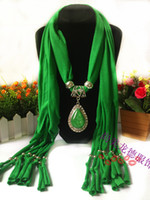 Cotton best acrylic beads - Drop pendant scarves many colors charm jewelry beads winter lady women s scarves best gift fast shipping