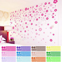 Wholesale Newest Arrivals Wall sticker Flowers AS a Set Removable Flower Mural Wall Art Stickers Decals Home Decor cx39