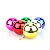 Wholesale Christmas tree decorations Christmas light platingball Christmas ball plastic ball