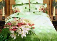 Adult Twill 100% Cotton 4pc 100% cotton unique 3d Oil Painting bedding sets Duvet quilt comforter cover Full queen king size bed linen sheets bedclothes MYY6985
