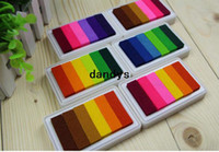 Bathing big pads shipping - Children s stationery New Big size Mix color let s color ink pad ink pad set c31 dandys