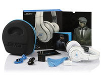 Wholesale 50 Cent Headphones SMS Audio Limited Edition white black and silver wireless On Ear DJ Headsets super A fast ship via DHL samples