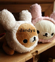 kawaii - Children s stationery F30 New kawaii SAN X Rilakkuma rabbit plush pencil bag pouchdandys