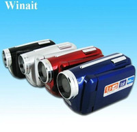 Wholesale Digital Camcorders New Gift Max W pixels camera in TFT LCD screen With x digital zoom LED flash Hot DV139 MINI free language
