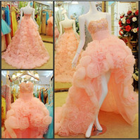 Wholesale latest fashion Strapless sleeveless Rhinestone and flowers Handmade Flower decorations wedding dress