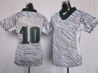 Wholesale New Zebra Camo Women Jerseys Fashion Camo Football Jerseys Eagle Jackson Sports Wears Size S to XXL Mix Order Drop Shipping
