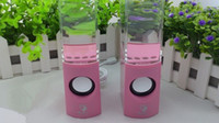 2 Universal HiFi Dancing Water Speaker Portable Mini USB LED Light Speaker For PC MP3 MP4 PSP