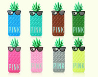 Wholesale New Arrival Hot Sales Lady Pineapple Sunglasses Skin Silicone Case Cover for iPhone G amp