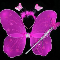 Wholesale Party Masks Butterfly Wing Set Children s Butterfly Wing Three Set Wing Headband Fairy Bar Party Supplies Mask Dance Supplies g
