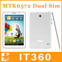 Wholesale 7 Inch MTK6572 Dual Core Galaxy GPS Tablet PC Android Dual SIM G GSM Phone Call Bluetooth Dual Camera Phablet P1000