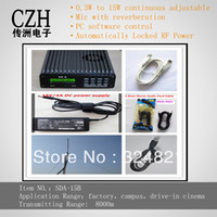 Cheap Free Shipping PC Control SDA-15B 15W Audio Amplifier FM Transmitter Kits+Power Supply+1 4 Wave GP Antenna+Audio Cable