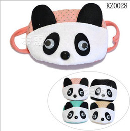 Wholesale Fashion New arrival Children s cute panda pattern plush masks kids lovely panda design respirator KTJ A0062