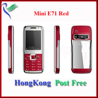 Wholesale Unlocked Red Lovely Cheap E71 Mini Quad GSM Band TV Phone HK Post