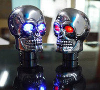 Wholesale Shift Lever Knobs - 1pc universal SKULL STICK SHIFT KNOB Gear NEW Skeleton Goth Lever Car Truck Biker