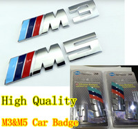 bmw m3 badges - with retail packag CAR BADGE stick silver M3 amp M5 adhesive logo Cars Decoration Stickers For BMW Sticker Metal D Car Sticker