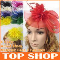 bridal hair accessories - Bridal Hair Accessories Vintage Bridal Headdress Hat Hairpin Lace Feather Bridal Hairpin Hair Accessory For Flower Hair Bridal HQ0107