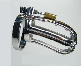 Wholesale 2013 Latest Design Super Male Anti Shedding Cock Cage Double Close Chastity Art Device Cock ring BDSM Sex Stoys