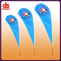 Wholesale teardrop flying banner beach flag use different base