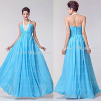 chiffon pageant gowns - 2014 New Arrival A Line Halter Hunter Pleated Chiffon Rhinestone Beaded Pageant Dresses Pageant Gowns Dhyz buy get free necklace