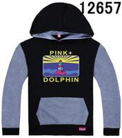 al por mayor camisetas delfín rosado-Negro gris del delfín sudaderas con capucha y sudaderas para hombres-XXXL S moda popular calle Pullover con capucha buena calidad tamaño