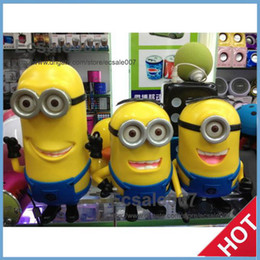 Wholesale Drop Shipping Cute Minions Despicable Me Mini HIFI Loud Speaker MP3 Player Amplifier Micro SD TF Card USB Disk Computer speakers