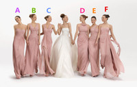 Wholesale 2014 Cheap Pleated And Criss Cross Sweetheart A Line Floor Length Chiffon Bridesmaid Dresses