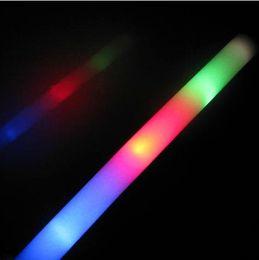Conduit mousse bâton clignotant à vendre-Baguettes de mousse LED bâtons de lueur adhérents de parti éponge stick bâton de flash acclamant 200pcs EMS Livraison gratuite