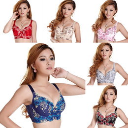 Wholesale Fashion Sexy Womens Ladies Embroidered Push Up Plunge Underwired Bra Colors amp Sizes Choose DJH