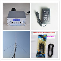Wholesale CZH A Silver w Broadcast Radio Station FM Transmitter Kit Power Supply Audio Cable Wave GP Antenna