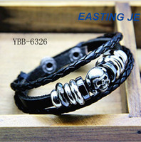 Wholesale Fashion Multilayer Exotic Leather Charm Bracelet Personalized Bracelet