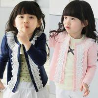 Wholesale 2013 new Autumn clothing cotton gauze can Ailei Si trim collar cardigan jacket girls