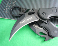 knives free shipping - OEM Fox claw karambit G10 handle folding knife survival outdoor gear pocket knife hunting knife