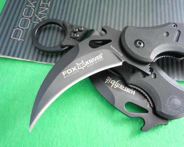 OEM Fox коготь Керамбит G10 справиться складные Нож выживания наружный механизм карманный нож охотничий нож бесплатная доставка