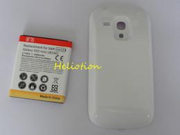 200pcs / lot 3500mAh étendu la batterie de téléphone portable avec le cas de couverture arrière pour la galaxie SIII S3 mini i8190 de Samsung Expédition rapide Bon prix à partir de prolongée boîtier de la batterie de galaxie fournisseurs