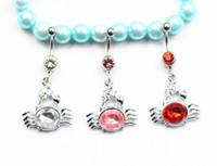 Wholesale New crab l stainless steel navel belly button rings body piercing jewelry