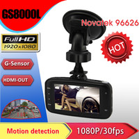 Wholesale DHL Free Car Front View Camera Car Dvr Novatek GS8000L P degrees wide Angle inch LCD G Sensor HDMI LGI Gary