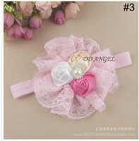 Wholesale Europe and the United States lovely bud silk flowers rose baby hair hair band