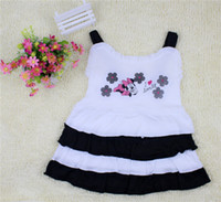 Wholesale HOT The girls fashion condole belt dress Children cotton blended material braces skirt KLZ Q0005
