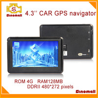 Gps Navigator car navigation - 4 car navigation GPS navigator Nandflash G MB DDRII pixels GPS device gps satellite navigation system free map