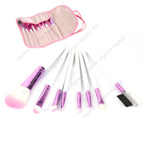 Wholesale Pro Cosmetic Makeup Brush Sets Kits wood handle Eyeshadow Brush Blush with Case