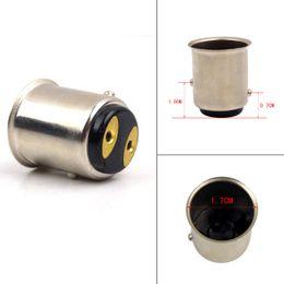 Wholesale 10pcs BAY15D P21 W LED Socket Base Lamp Adapter Converter For Car Stop Tail Brake Signal Reverse LED Light Bulb Socket Base