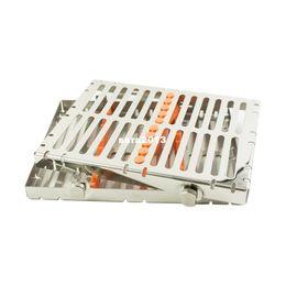 Wholesale Dental Instrument Autoclave Sterilization Cassette Tray Racks Ins Orange