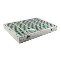 autoclave sterilization - Dental Instrument Autoclave Sterilization Cassette Tray Racks Ins Green
