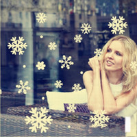 Wholesale Christmas Decoration Snowflake Window stickers Xmas Wall Stickers Xmas Window decoration